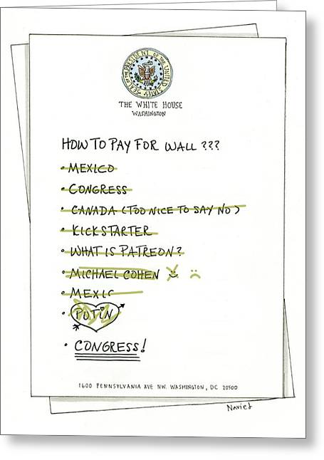 How To Pay For Wall  Greeting Card