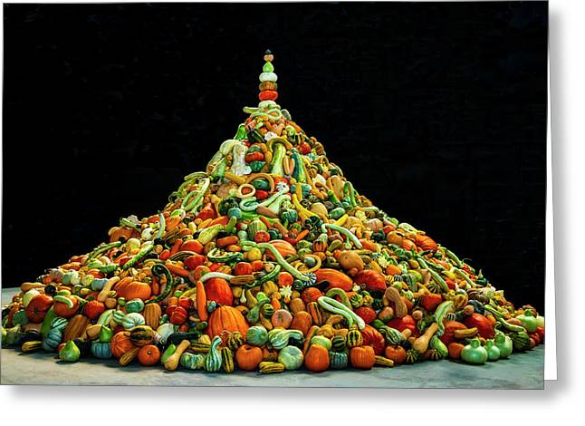 Huge Mountain Of Gourds Greeting Card