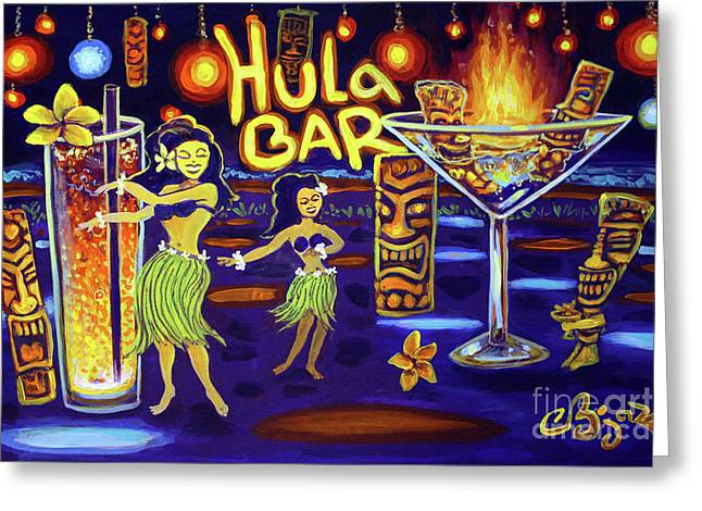 Hula Bar Greeting Card