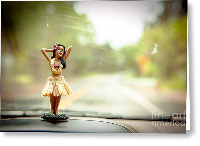 Hula Dancer Greeting Card by Henry Lien