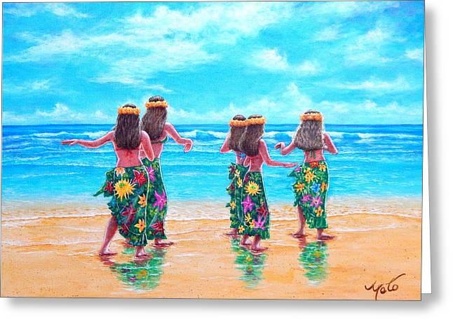 Hula Dancers Hawaii Greeting Card