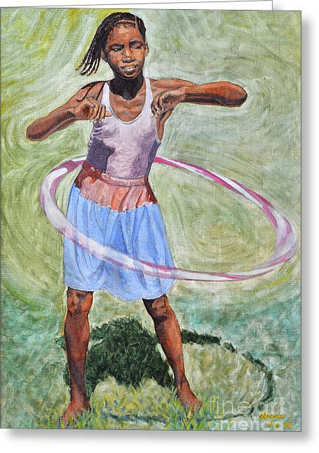 Hula Hoop  Greeting Card
