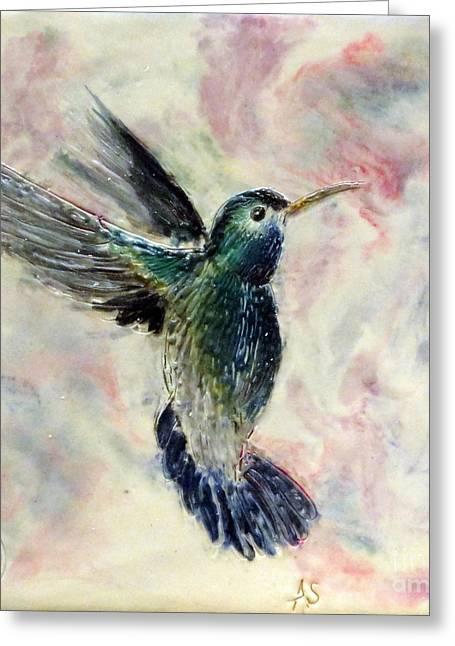 Hummingbird Flight Greeting Card