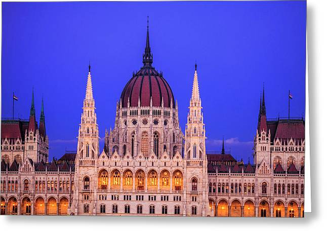 Hungarian Parliament Greeting Card by Andrew Soundarajan