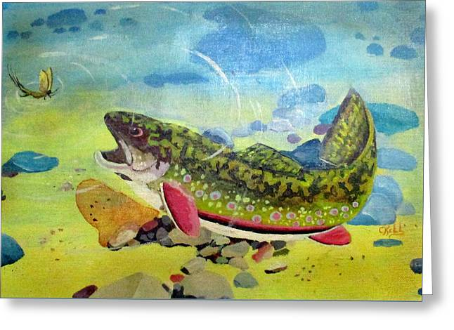 Hungry Trout Greeting Card