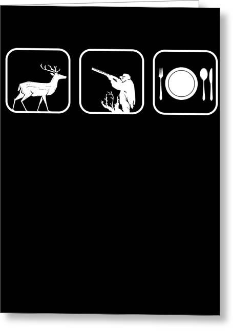 Hunter Deer Wildlife Forest Wild Animals Buck Hunting Gift Greeting Card