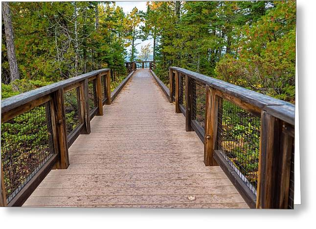 Hunter's Point At Copper Harbor Greeting Card