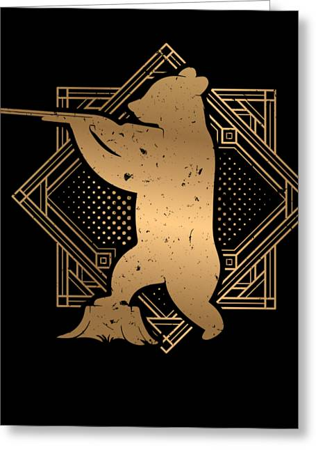 Hunting Bear Shooting Jungle Hunters Feral Trapping Deer Ducking Gift Greeting Card