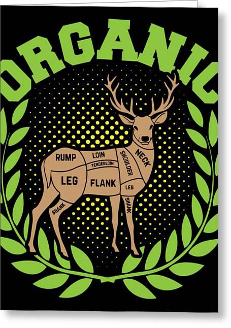 Hunting Organic Deer Entrap Forest Hunters Huntress Shooting Jungle Gift Greeting Card