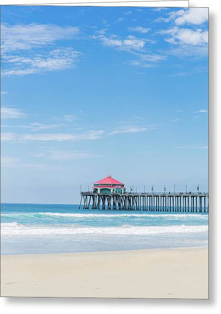 Huntingdon Beach Pier, California Greeting Card