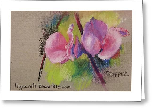 Hyacinth Bean Blossom Greeting Card