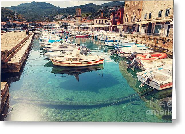 Hydra Island, Greece Greeting Card