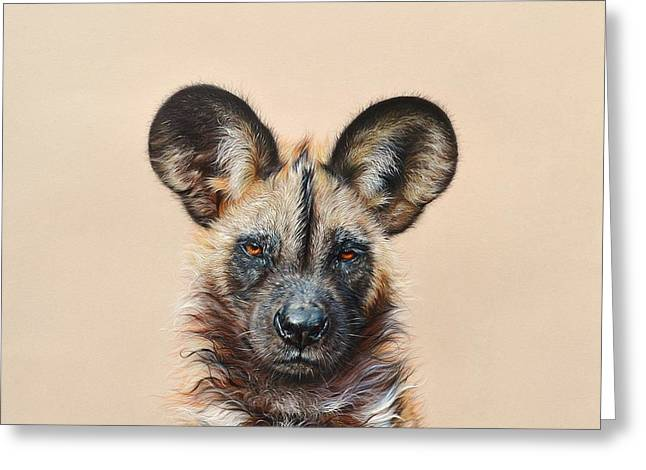 I Am A Wild Thing - African Painted Dog Greeting Card
