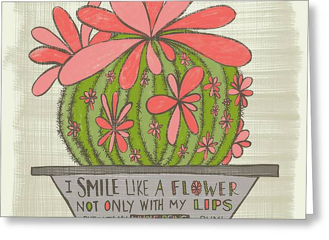 I Smile Like A Flower Rumi Quote Greeting Card