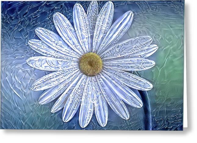 Ice Daisy Flower Greeting Card