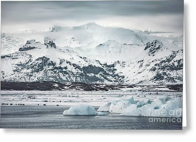 Ice Encounters Greeting Card