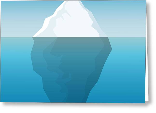Iceberg Background Greeting Card