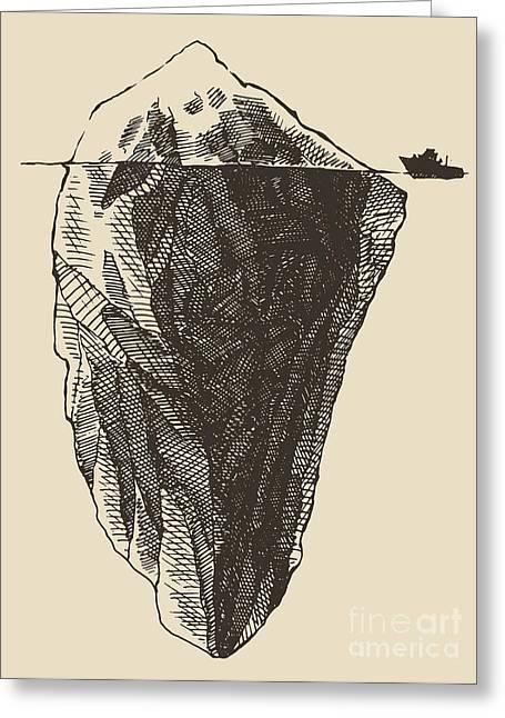 Iceberg With Icebreaker Vintage Greeting Card