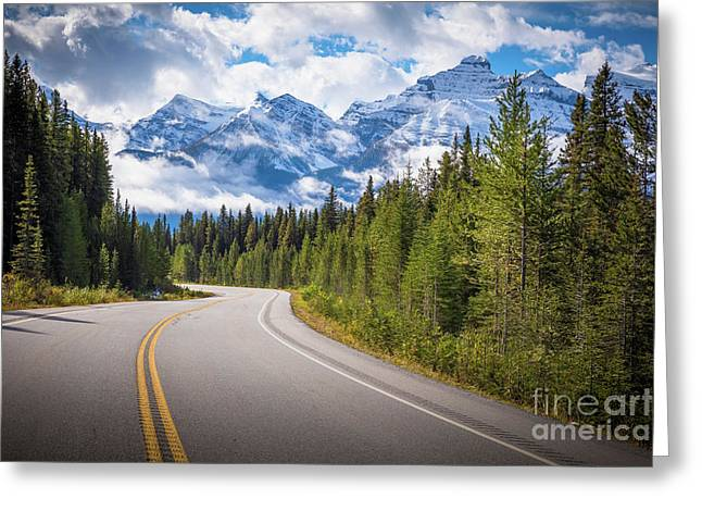 Icefields Parkway Curve Greeting Card