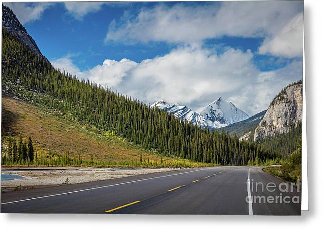 Icefields Parkway Mountains Greeting Card