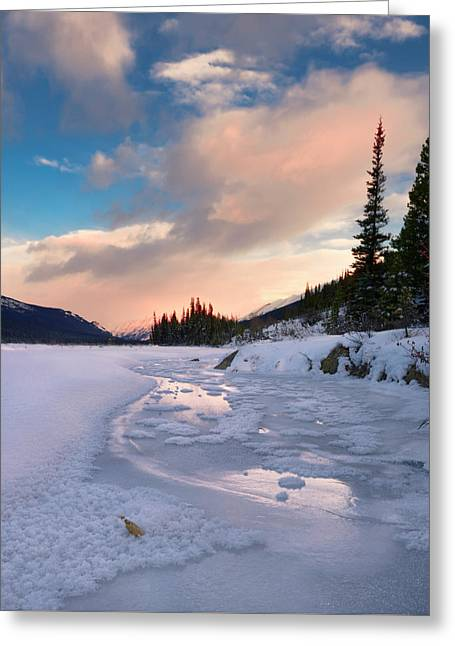 Icefields Parkway Winter Morning Greeting Card