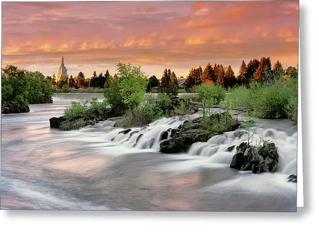 Idaho Falls Greeting Card