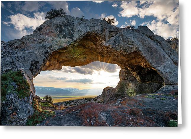 Greeting Card featuring the photograph Idaho Natural Arch by Leland D Howard