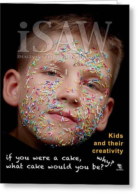 Greeting Card featuring the digital art If You Were A Cake by ISAW Company
