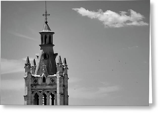 Iglesia Del Sagrado Corazon, Tower. Granada Greeting Card
