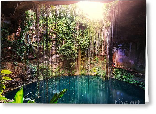Ik-kil Cenote,  Mexico Greeting Card