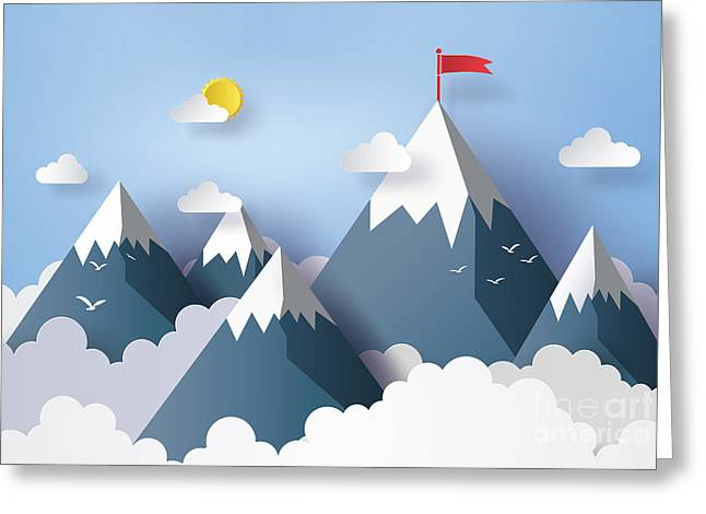 Illustration Of Nature Landscape And Greeting Card