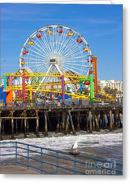 Image Of A Popular Destination The Pier Greeting Card