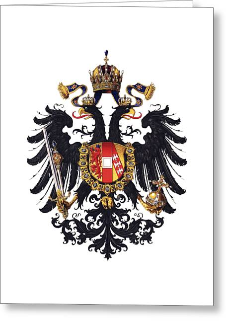 Imperial Coat Of Arms Of The Empire Of Austria-hungary 1815 Transparent Greeting Card