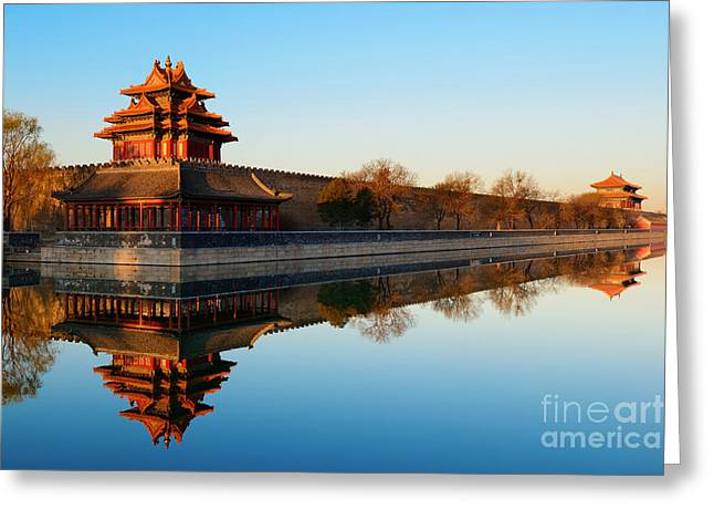 Imperial Palace Over Lake In The Greeting Card