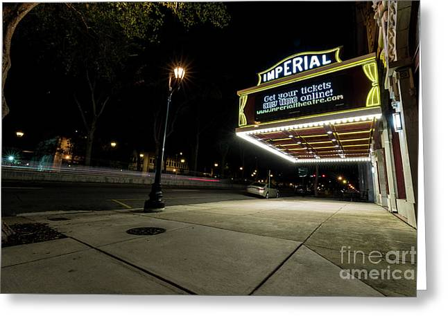 Imperial Theatre Augusta Ga Greeting Card