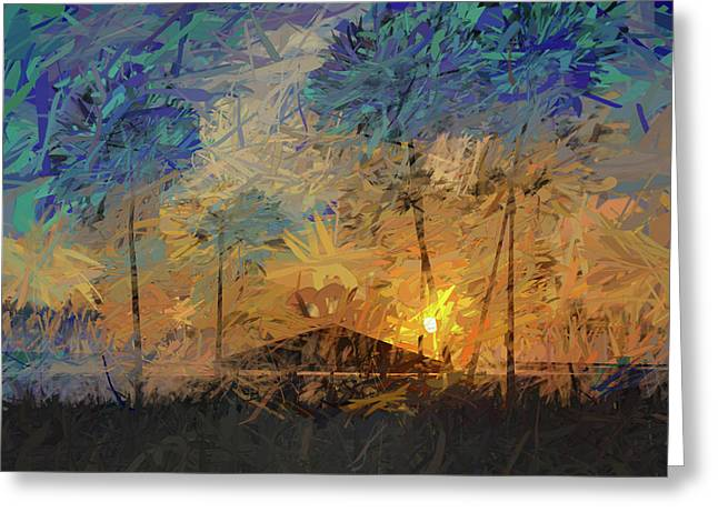 Impressions Of A Beach Sunset Greeting Card