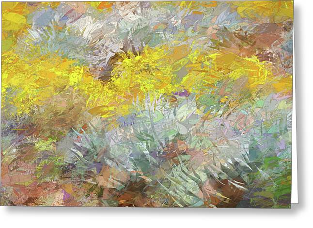 Impressions   Of Agave And Brittlebush Greeting Card
