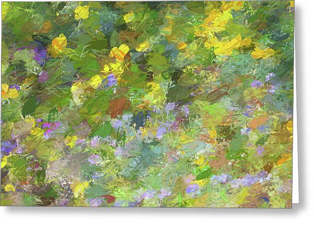 Impressions Of Golden Poppies Greeting Card
