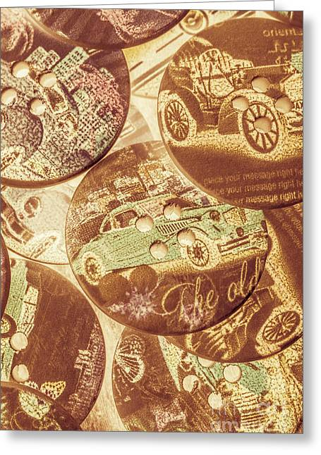 In Fashion Of Classic Cars Greeting Card