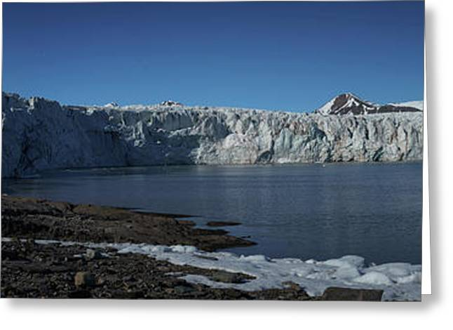 In Front Of A Glacier On Svalbard Greeting Card