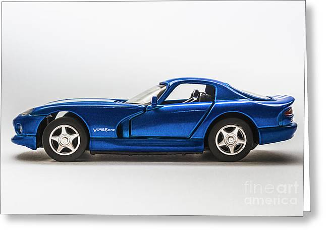 In Race Blue Greeting Card