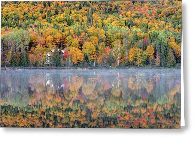 Greeting Card featuring the photograph In The Heart Of Autumn by Pierre Leclerc Photography