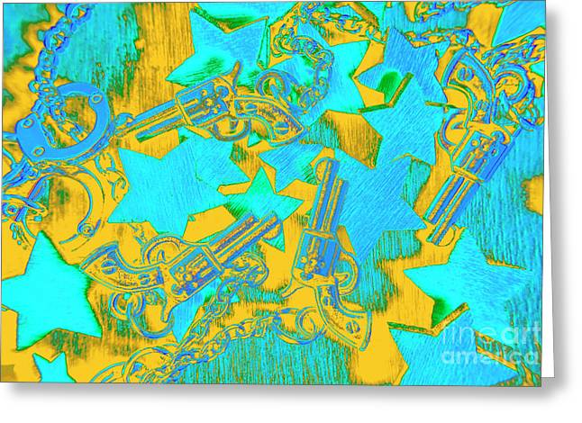 In Wild West Patterns Greeting Card