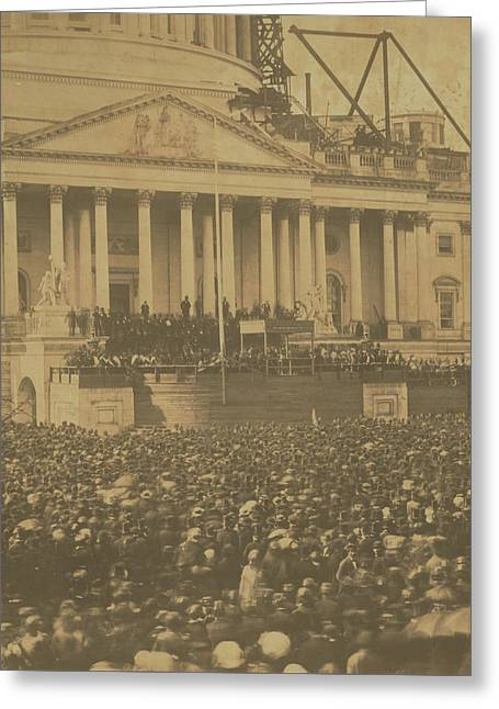 Inauguration Of Abraham Lincoln, March 4, 1861 Greeting Card