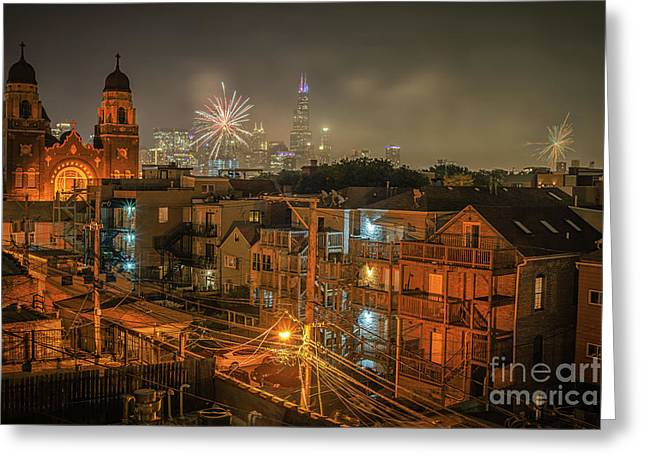 Independence Day In Chicago Greeting Card