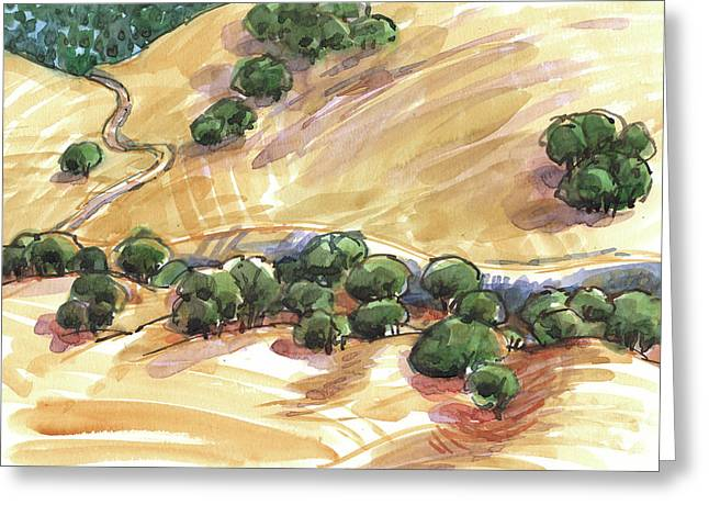 Indian Creek Valley From Shell Ridge Greeting Card