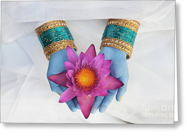 Indian Flower Offering Greeting Card