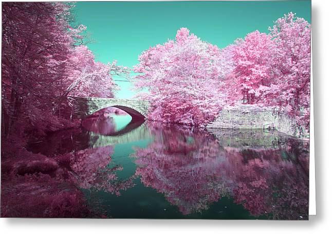 Infrared Bridge Greeting Card