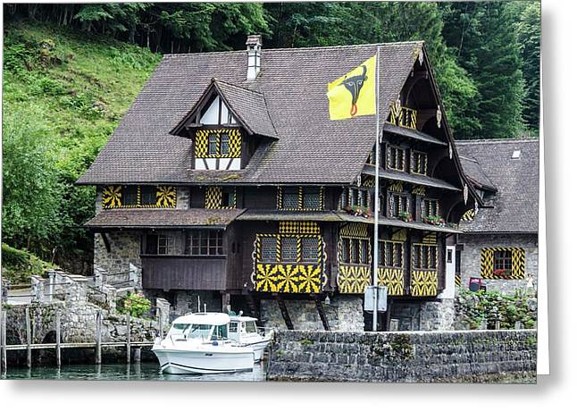 Inn On Lake Lucerne Greeting Card