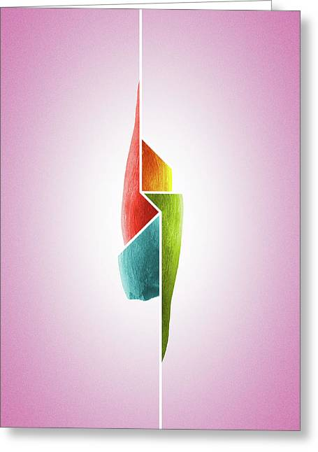 Innaiant Ice Cream Redux - Surreal Abstract Jawbone Collage Greeting Card